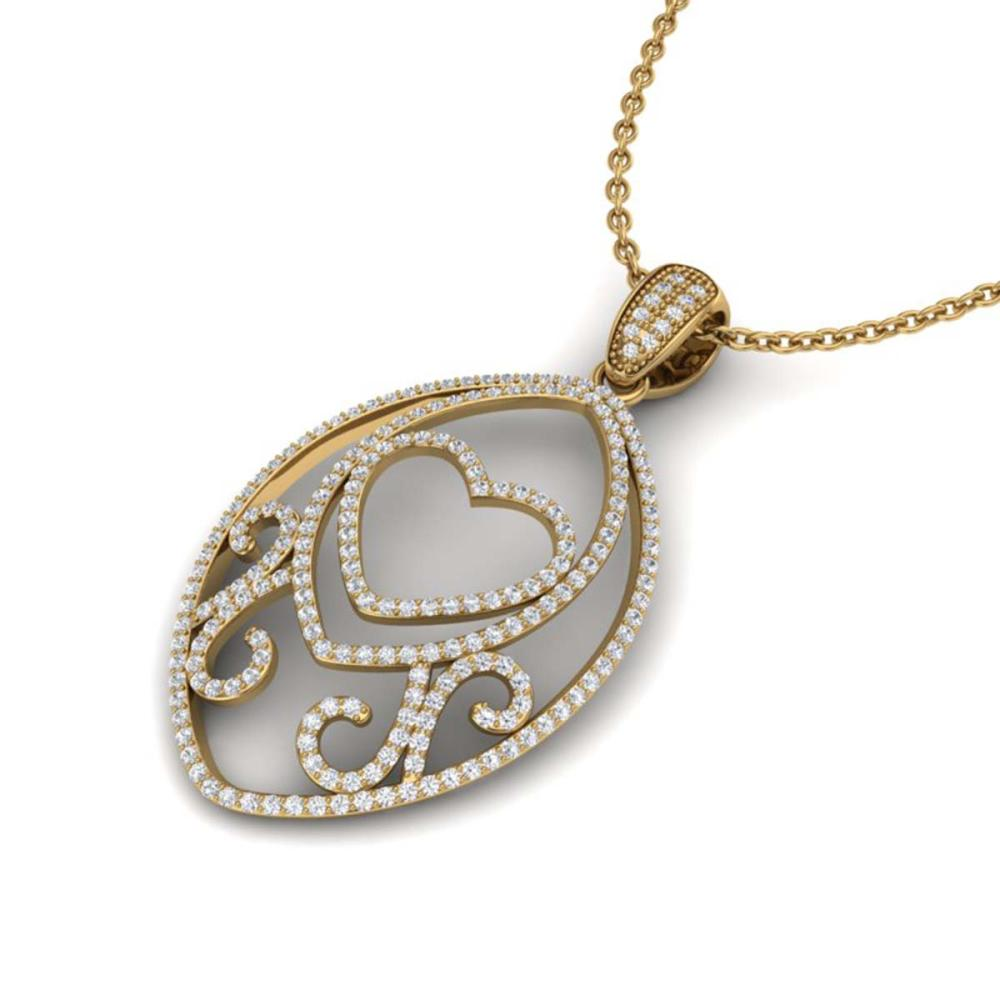 1.75 ctw VS/SI Diamond Heart Necklace 18K Yellow Gold - REF-180K2W - SKU:22590