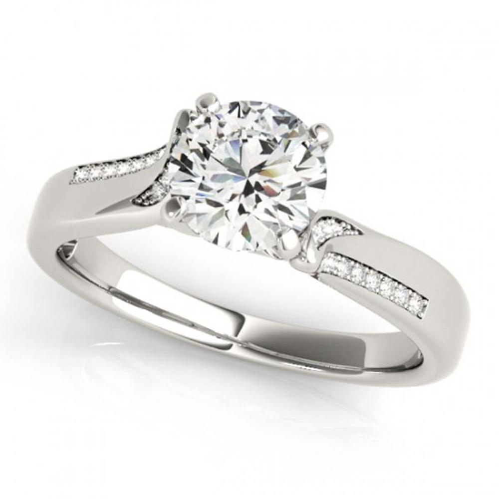 1.18 ctw VS/SI Diamond Solitaire Ring 14K White Gold - REF-269F2N - SKU:25757