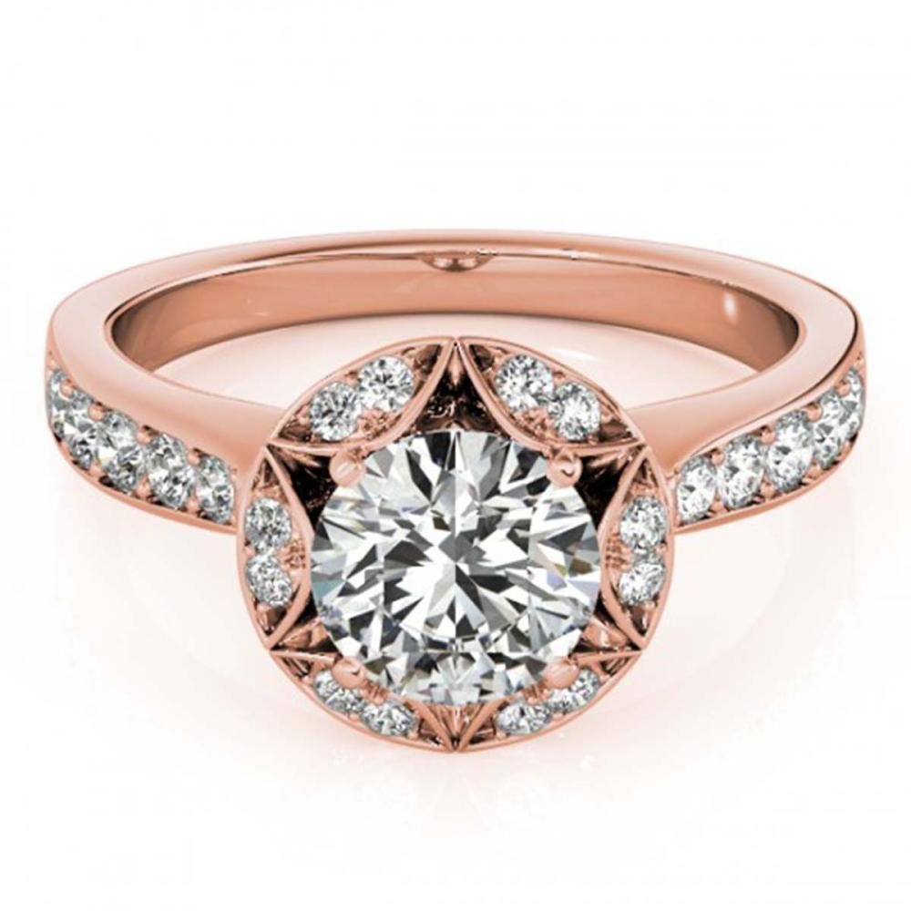 1.50 ctw VS/SI Diamond Halo Ring 14K Rose Gold - REF-283F6N - SKU:24738
