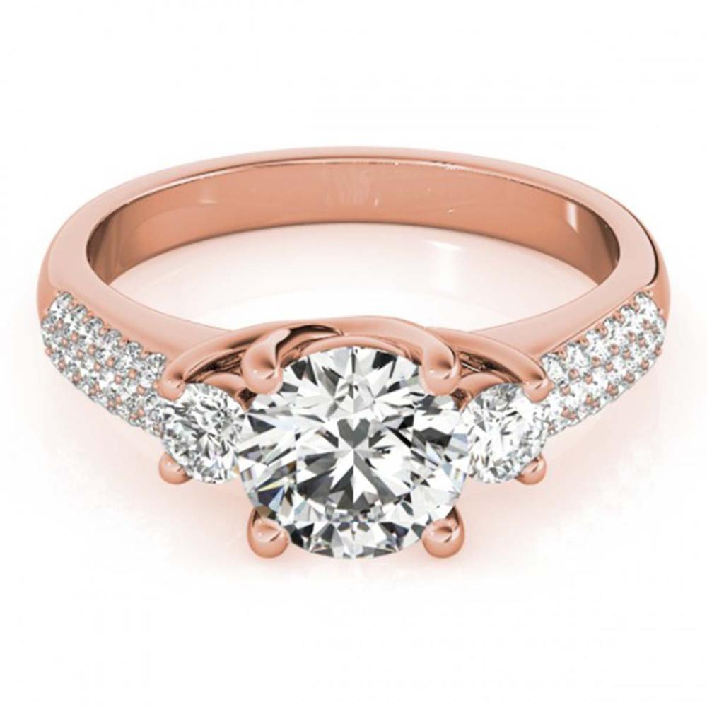 1.25 ctw VS/SI Diamond 3 Stone Ring 14K Rose Gold - REF-152X3R - SKU:25869