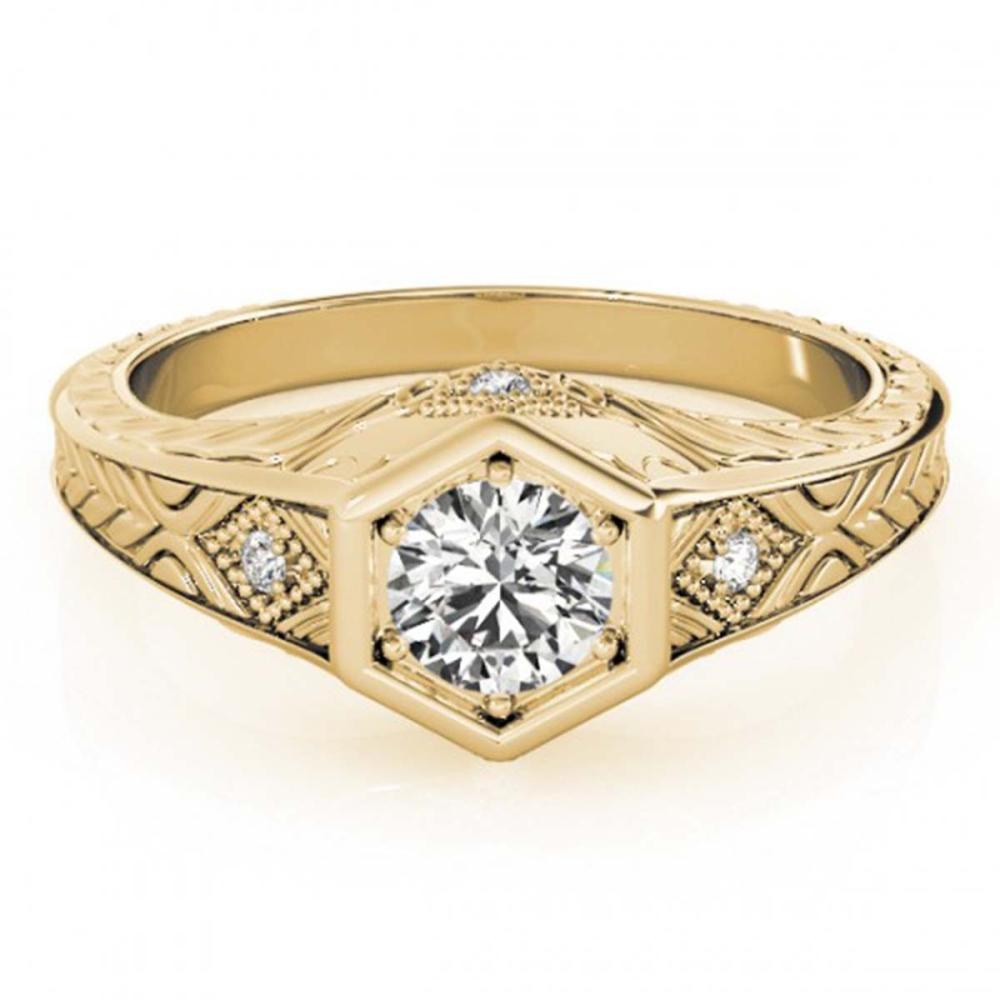 0.40 ctw VS/SI Diamond Ring 14K Yellow Gold - REF-46X4R - SKU:25072