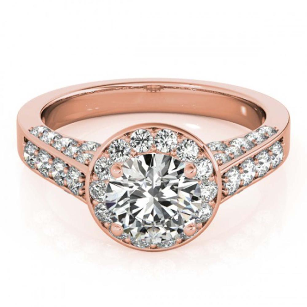 1.80 ctw VS/SI Diamond Halo Ring 14K Rose Gold - REF-298N8A - SKU:24633