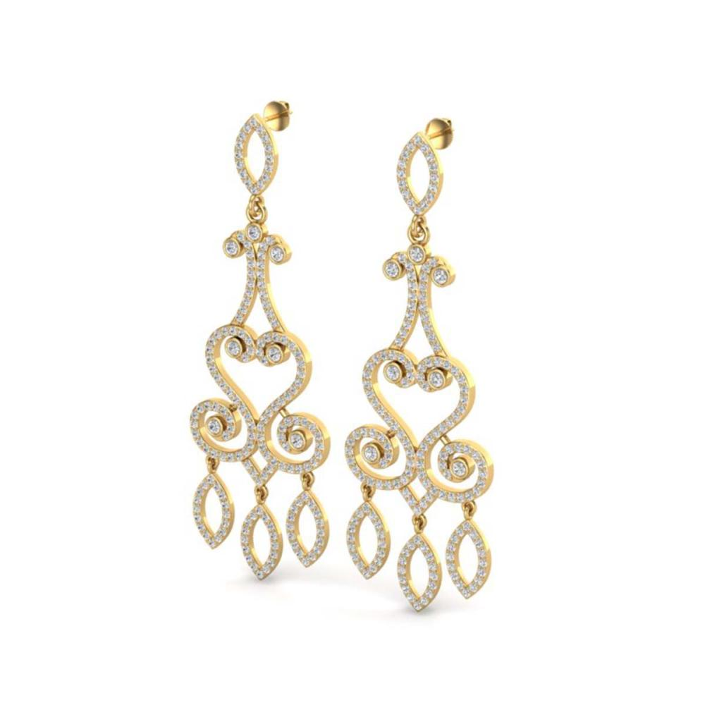 3.25 ctw VS/SI Diamond Earrings 14K Yellow Gold - REF-253X6R - SKU:22417
