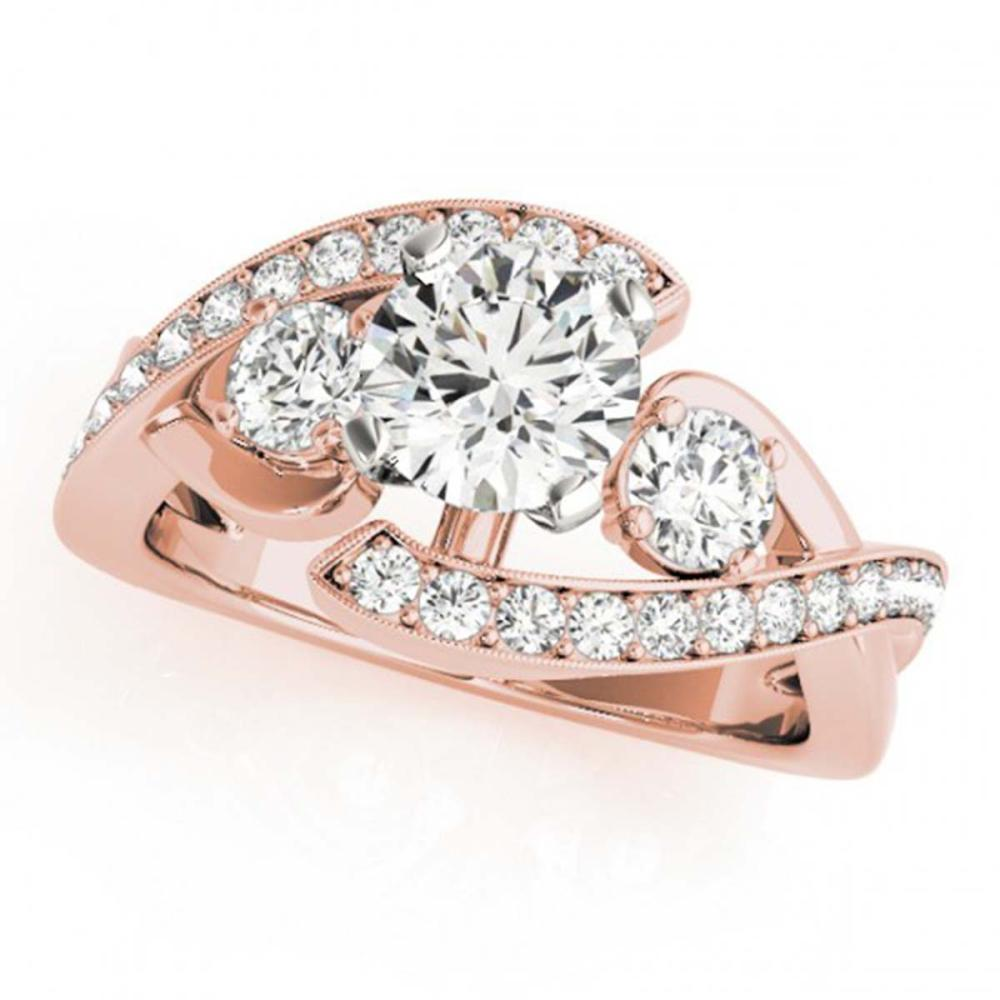 2.01 ctw VS/SI Diamond Bypass Ring 14K Rose Gold - REF-399H3M - SKU:25518