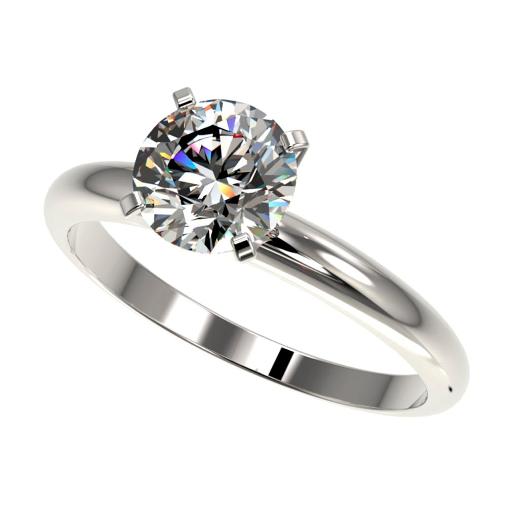 1.50 ctw H-SI/I Diamond Ring 10K White Gold - REF-330W2H - SKU:32922
