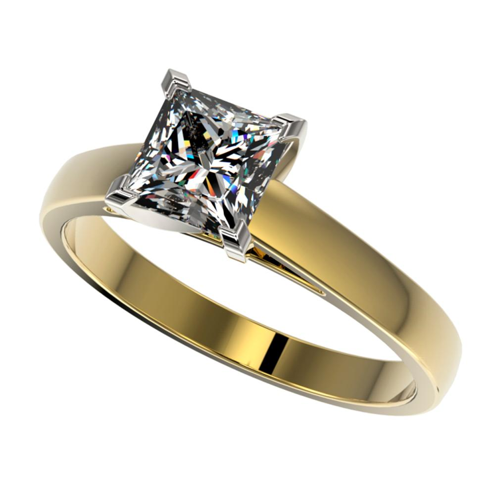 1.25 ctw VS/SI Princess Diamond Ring 10K Yellow Gold - REF-372R3K - SKU:33015