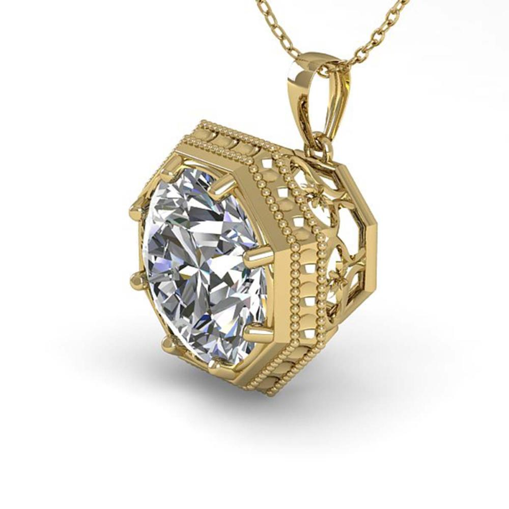 1 ctw VS/SI Diamond Necklace 14K Yellow Gold - REF-287X5R - SKU:29794