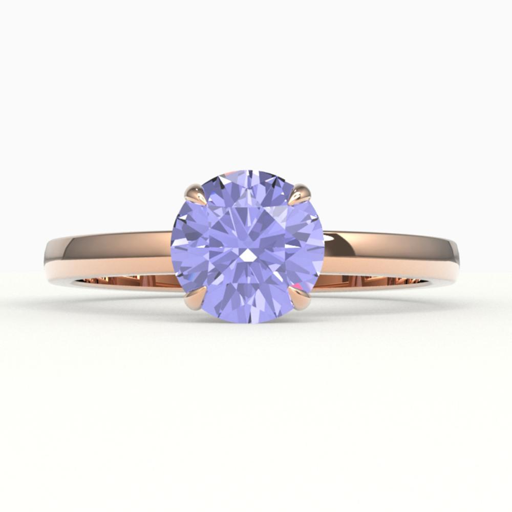 2 ctw Tanzanite Ring 14K Rose Gold - REF-50Y9X - SKU:22242