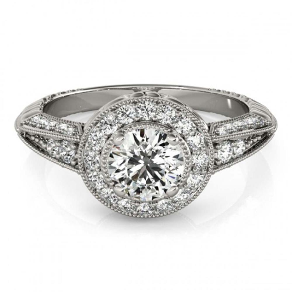 1 ctw VS/SI Diamond Solitaire Halo Ring 14K White Gold - REF-95H5M - SKU:24830