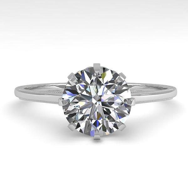 1.51 CTW Certified VS/SI Diamond Ring 14K White Gold - REF-517F6N - 35571