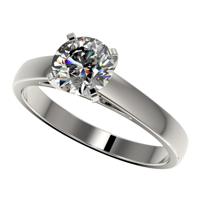 1.29 CTW Certified H-SI/I Quality Diamond Solitaire Engagement Ring 10K White Gold - REF-191K3W - 36534