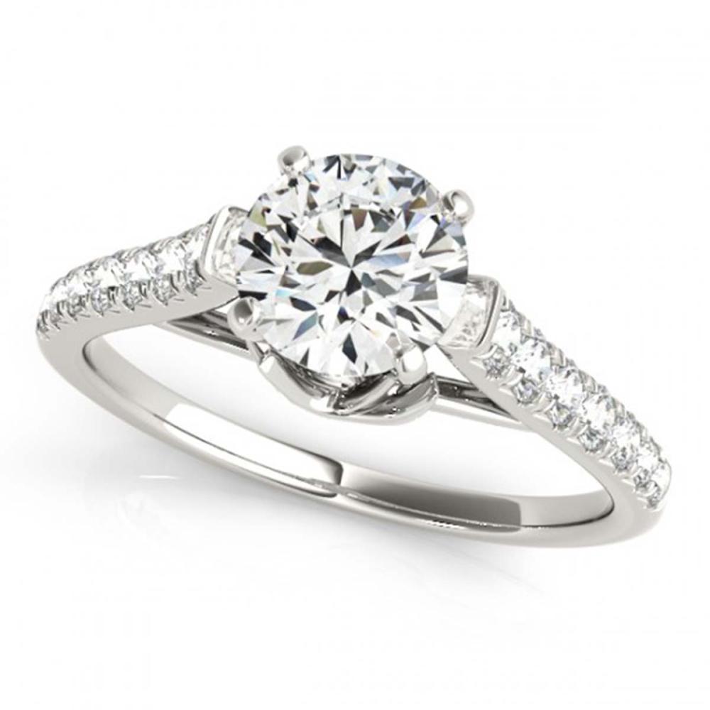 1 ctw VS/SI Diamond Solitaire Ring 14K White Gold - REF-87M2F - SKU:25415