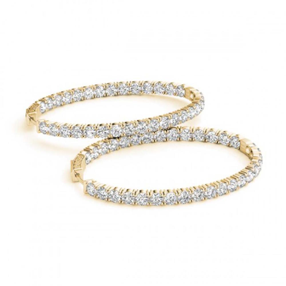 8 ctw Diamond VS/SI 32 mm Hoop Earrings 14K Yellow Gold - REF-530R3K - SKU:29109