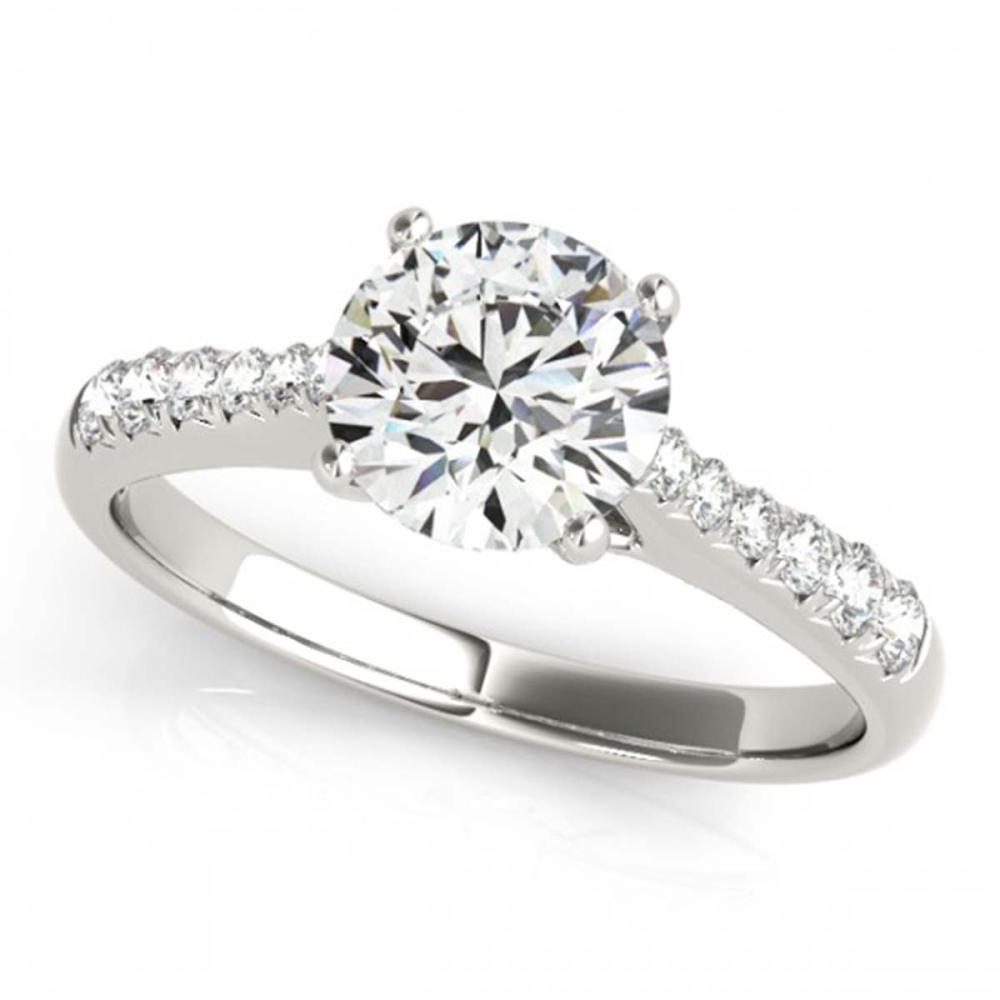 0.75 ctw VS/SI Diamond Solitaire Ring 14K White Gold - REF-75A7V - SKU:25274