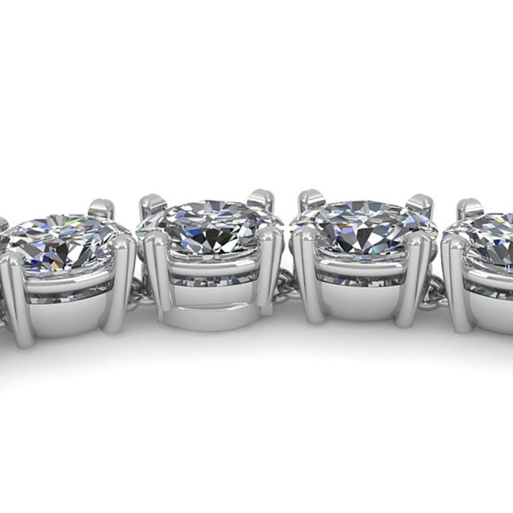 30 ctw Oval SI Diamond Necklace 18K White Gold - REF-4470F2N - SKU:32499