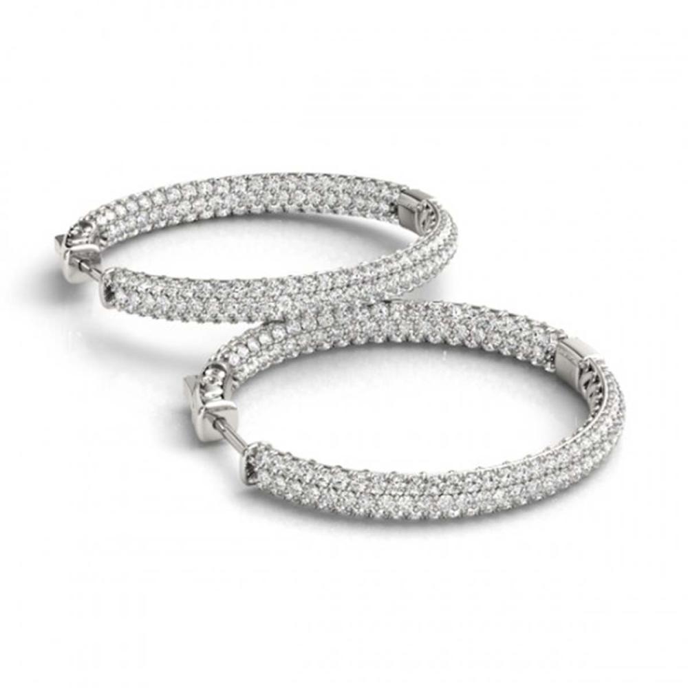 5 ctw Diamond VS/SI 36 mm Hoop Earrings 14K White Gold - REF-429V5Y - SKU:29092