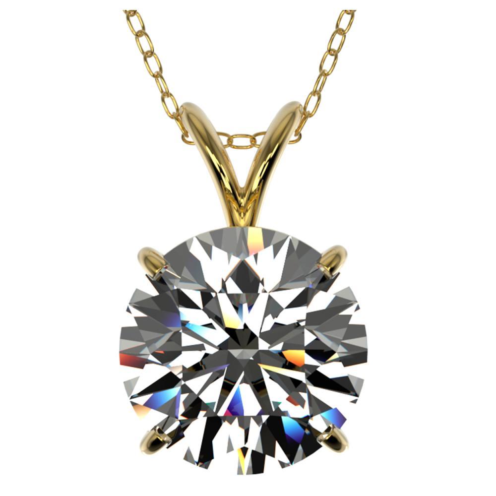 2.50 ctw H-SI/I Diamond Necklace 10K Yellow Gold - REF-870M2F - SKU:33242