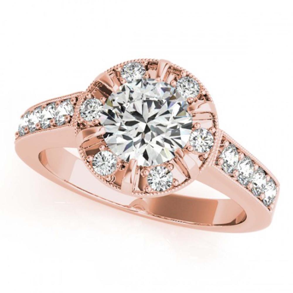 2 ctw VS/SI Diamond Solitaire Halo Ring 14K Rose Gold - REF-389X4R - SKU:24888