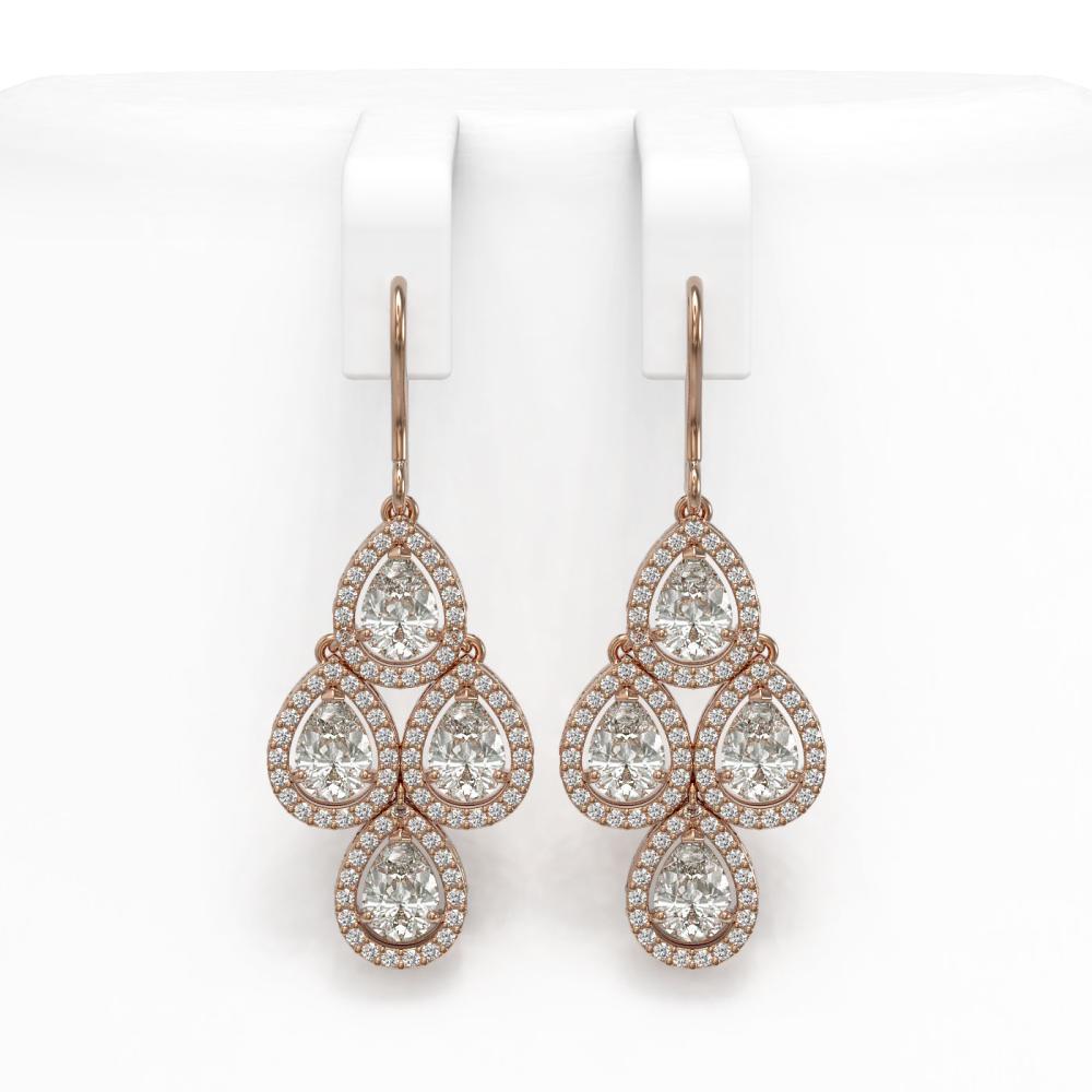 5.22 ctw Pear Diamond Earrings 18K Rose Gold - REF-727A2V - SKU:42774