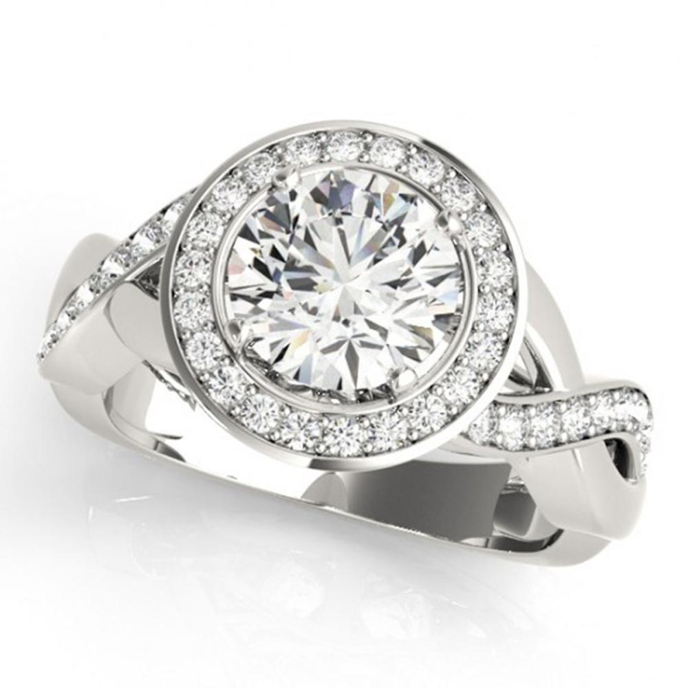 2 ctw VS/SI Diamond Solitaire Halo Ring 14K White Gold - REF-385Y6X - SKU:24024