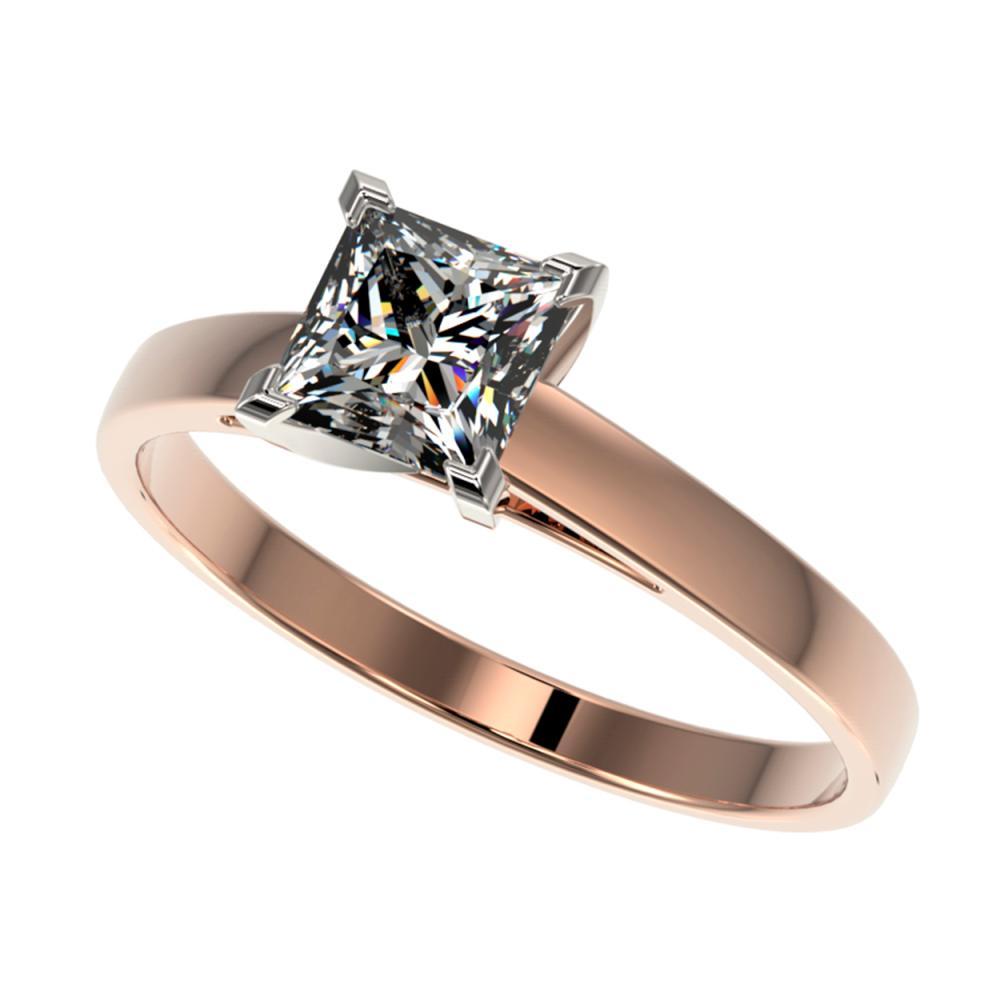 1 ctw VS/SI Princess Diamond Ring 10K Rose Gold - REF-297A2V - SKU:32995
