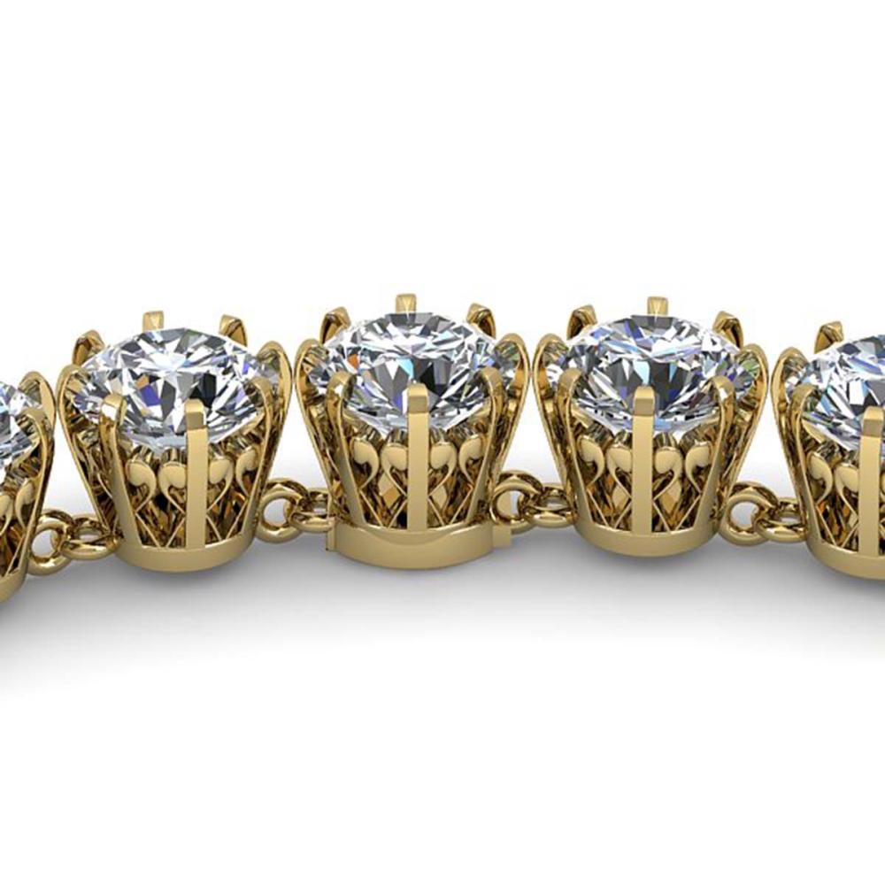 34 ctw SI Diamond Necklace 18K Yellow Gold - REF-5415H2M - SKU:35794