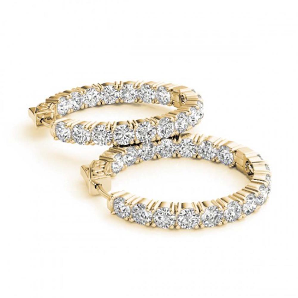 10 ctw Diamond VS/SI 30 mm Hoop Earrings 14K Yellow Gold - REF-885F2N - SKU:29022