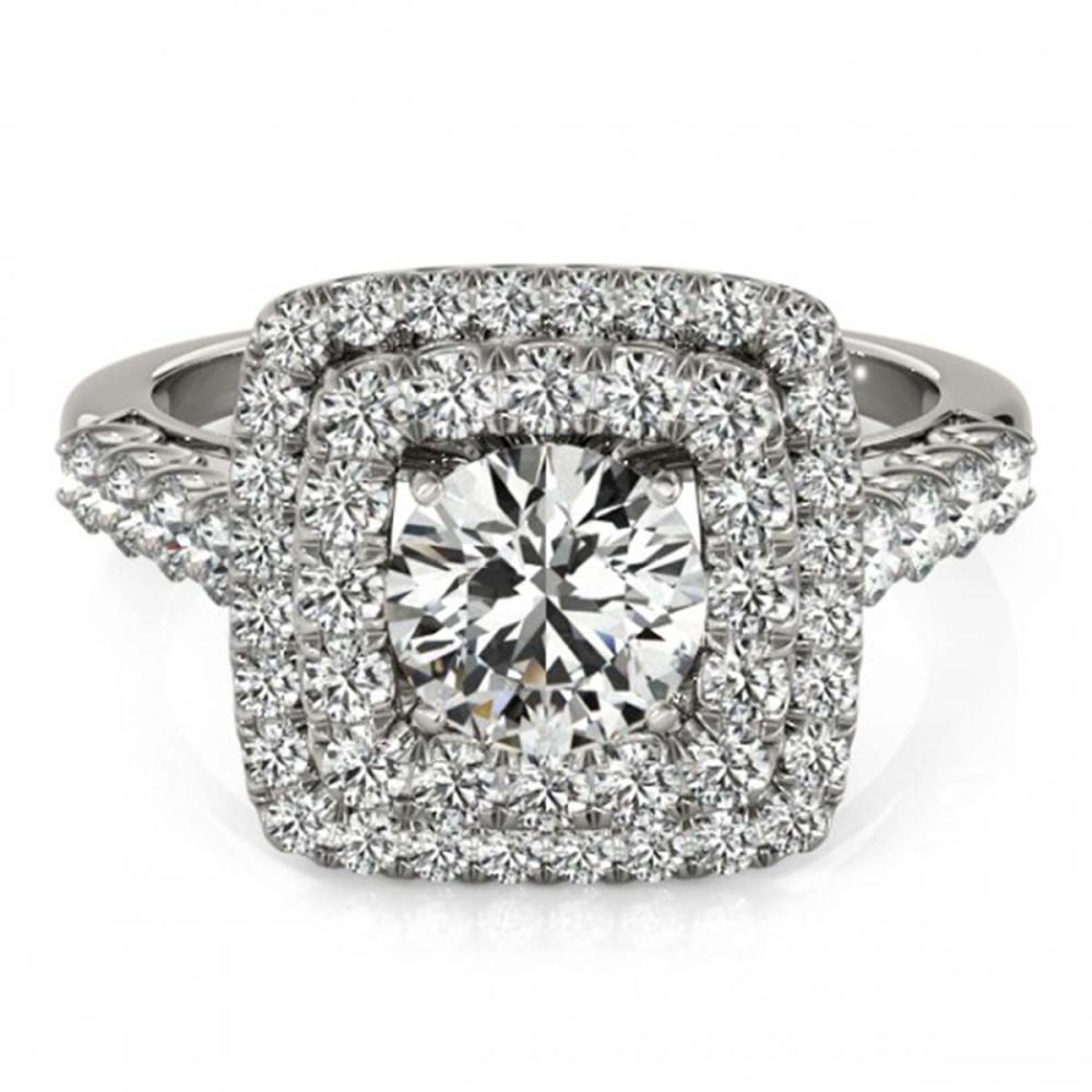 1.80 ctw VS/SI Diamond Solitaire Halo Ring 14K White Gold - REF-181R6K - SKU:24947