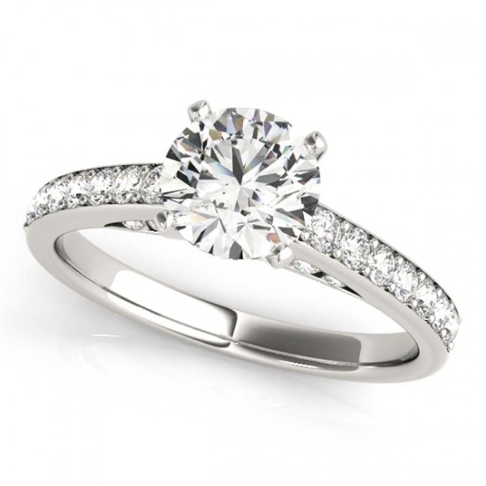 1.50 ctw VS/SI Diamond Solitaire Ring 14K White Gold - REF-274K2W - SKU:25316