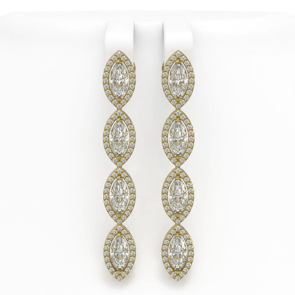 5.33 ctw Marquise Diamond Earrings 18K Yellow Gold - REF-739A6V - SKU:42658