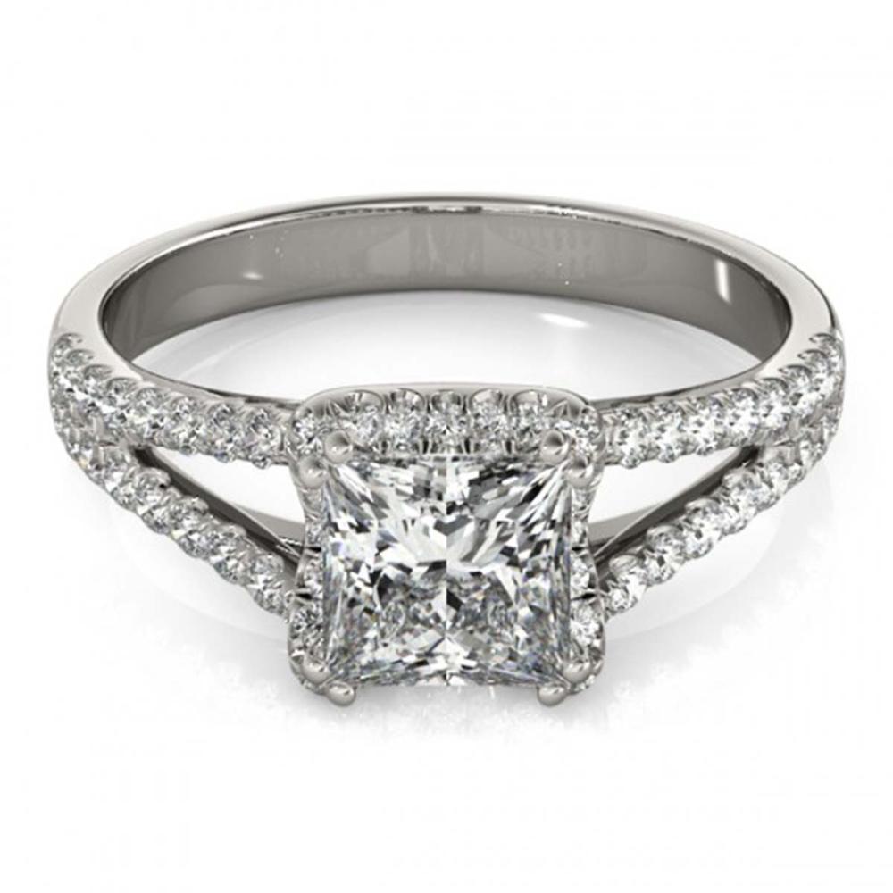 2.05 ctw VS/SI Princess Diamond Halo Ring 14K White Gold - REF-555N5A - SKU:24956