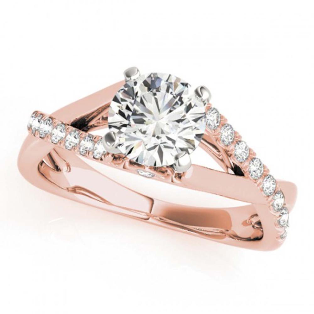 0.77 ctw VS/SI Diamond Solitaire Ring 14K Rose Gold - REF-95R5K - SKU:25347