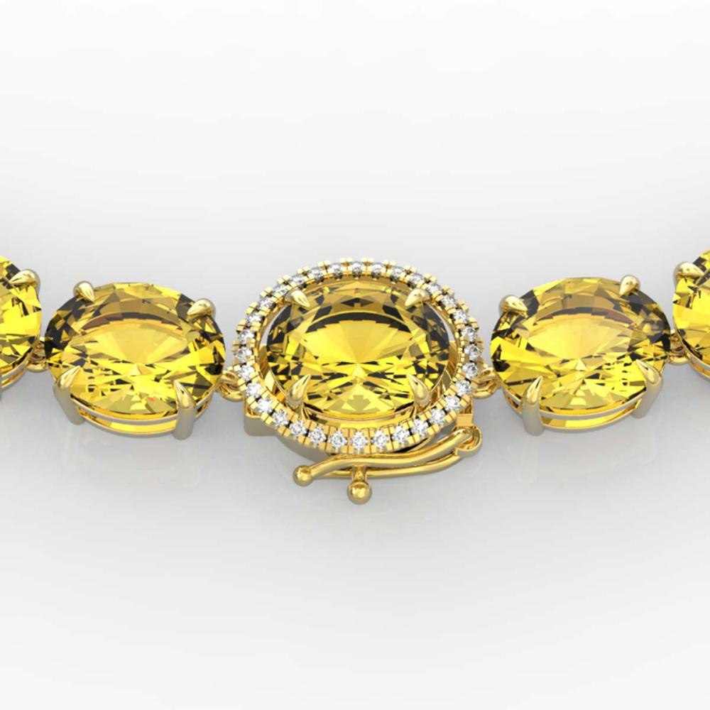 175 ctw Citrine & VS/SI Diamond Halo Necklace 14K Yellow Gold - REF-483A6V - SKU:22293