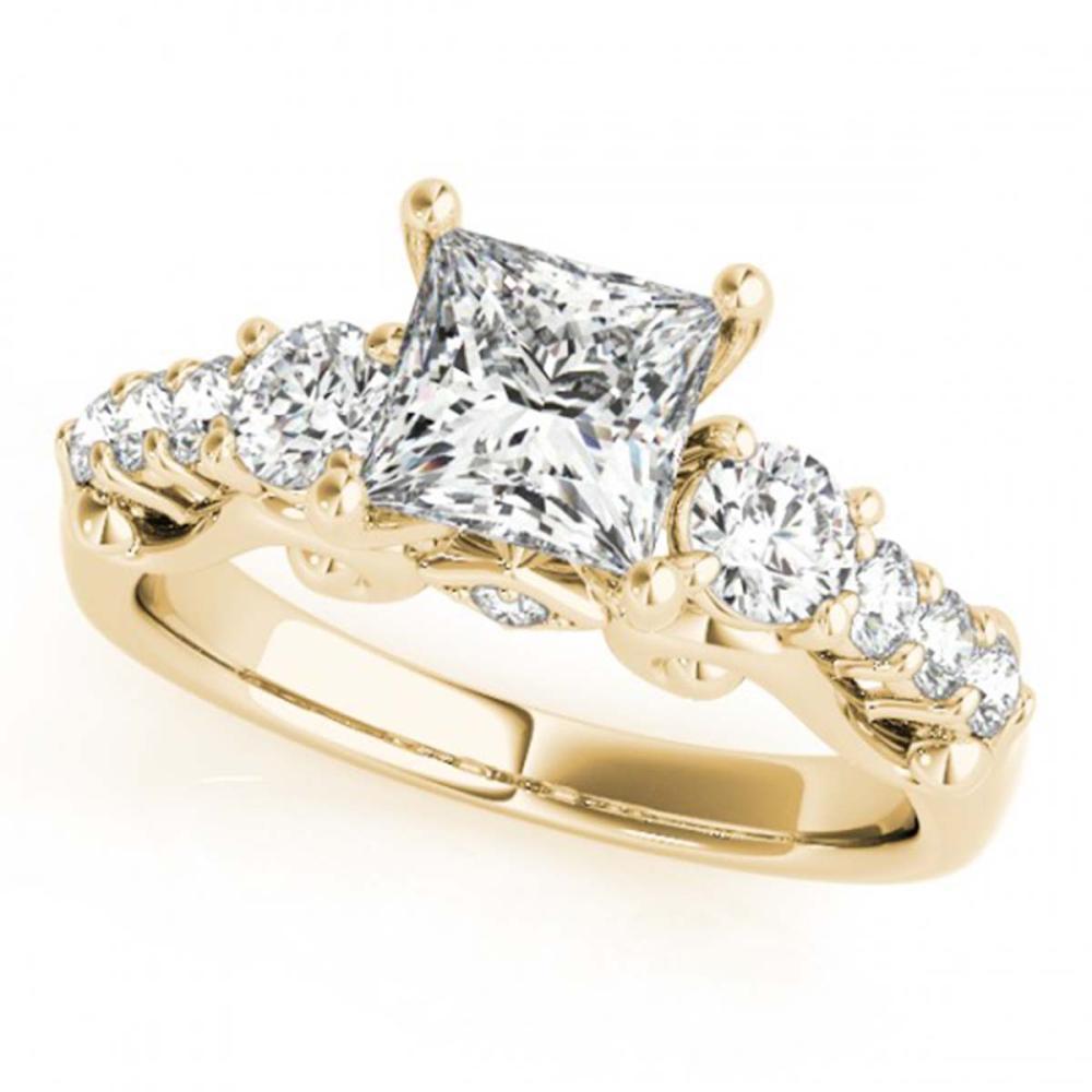 1.75 ctw VS/SI Diamond 3 Stone Princess Cut Ring 14K Yellow Gold - REF-349F2N - SKU:25846