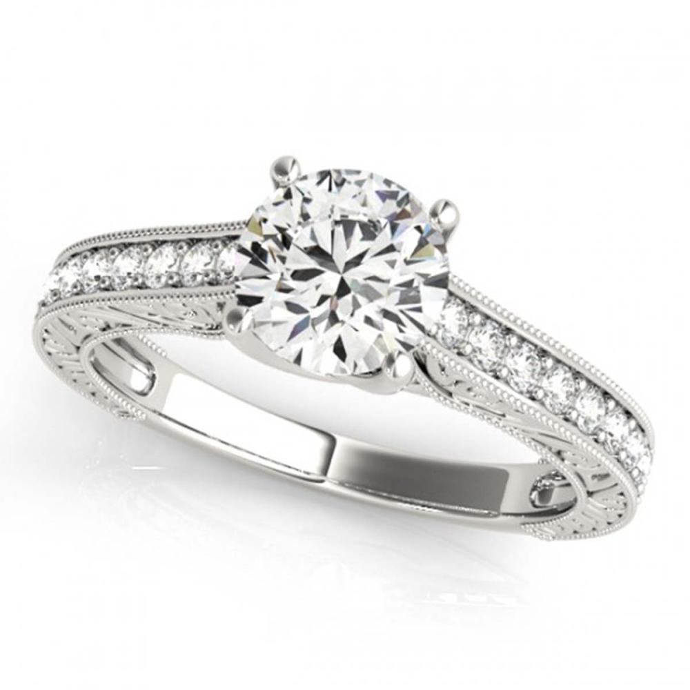 1.07 ctw VS/SI Diamond Solitaire Ring 14K White Gold - REF-136W8H - SKU:25403