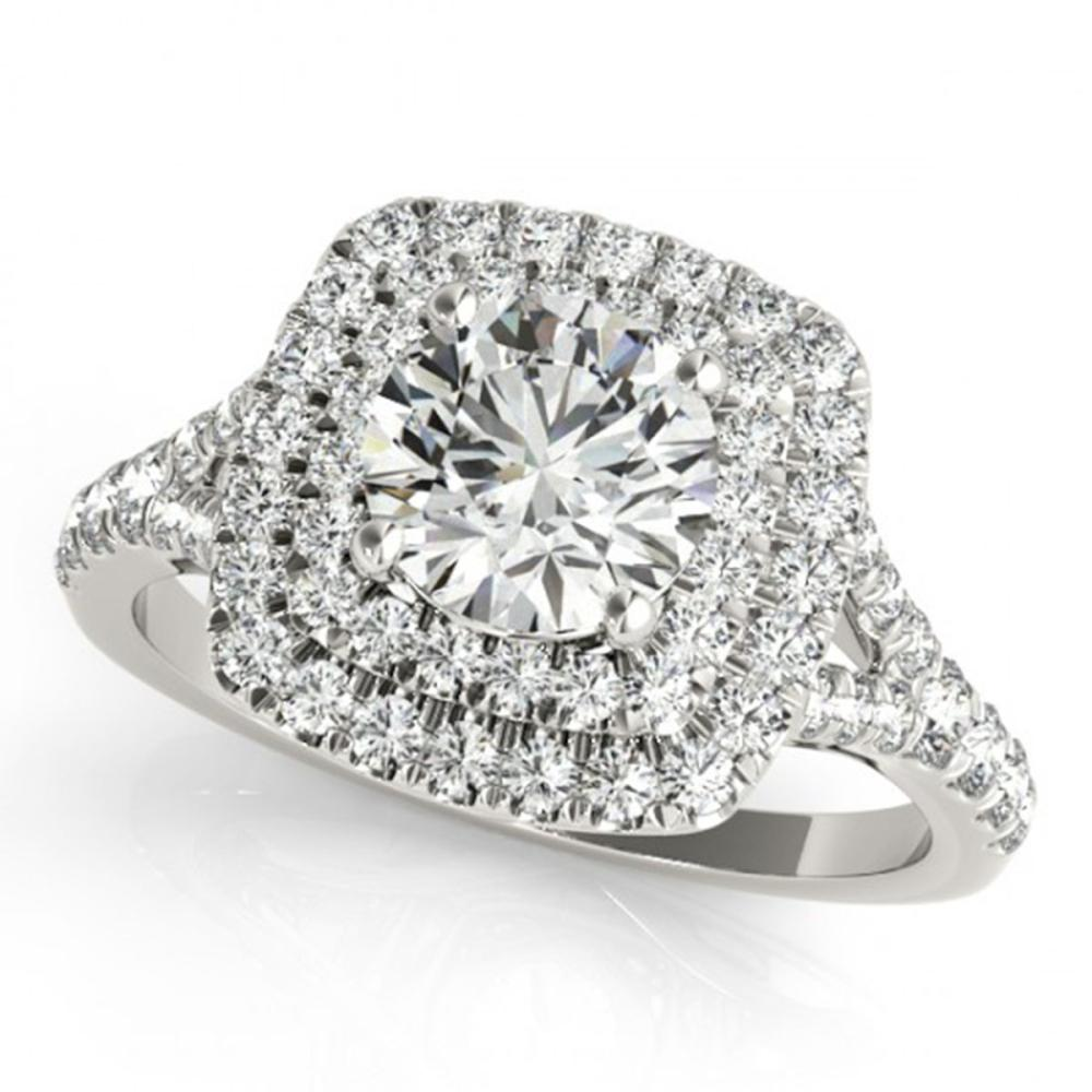 1.04 ctw VS/SI Diamond Solitaire Halo Ring 14K White Gold - REF-92Y7X - SKU:24078