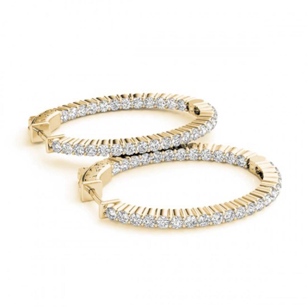 4.5 ctw Diamond VS/SI 23 mm Hoop Earrings 14K Yellow Gold - REF-381V8Y - SKU:29151