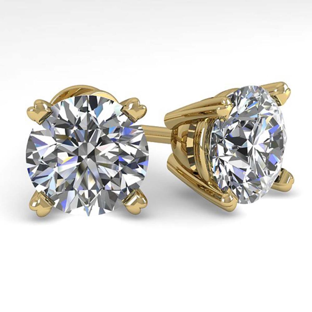 4 ctw VS/SI Diamond Stud Earrings 18K Yellow Gold - REF-1825V4Y - SKU:32323