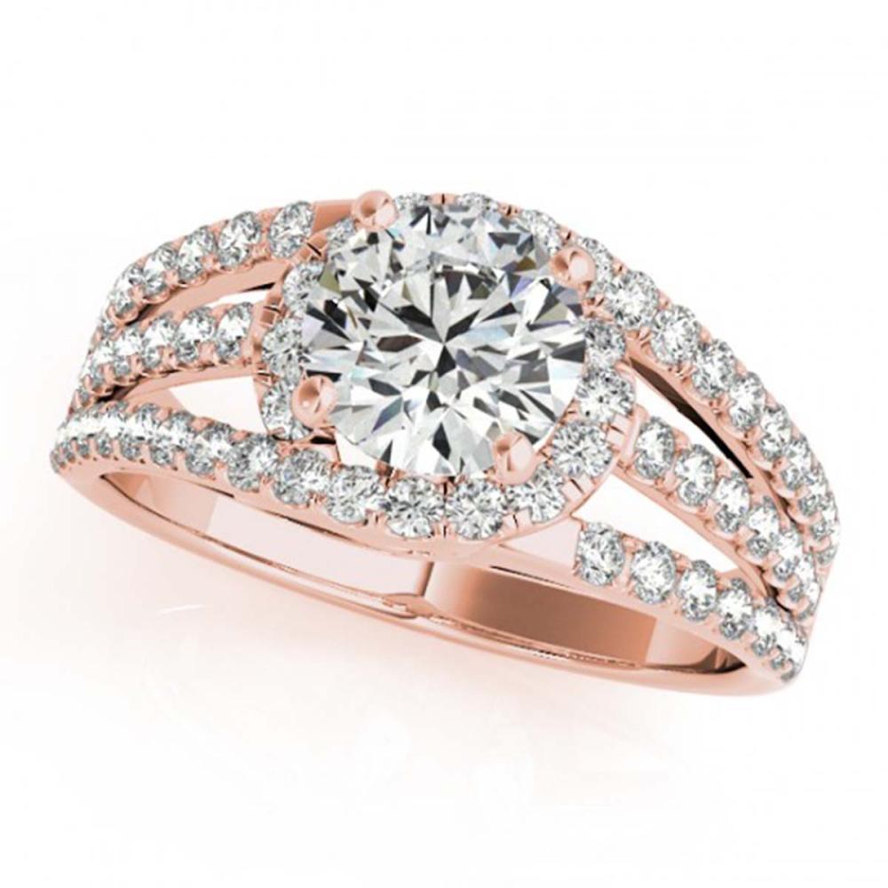 1.25 ctw VS/SI Diamond Solitaire Ring 14K Rose Gold - REF-152Y2X - SKU:25827