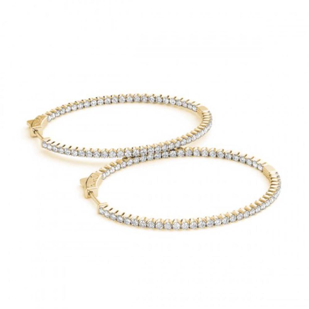 5.25 ctw Diamond VS/SI 45 mm Hoop Earrings 14K Yellow Gold - REF-279N2A - SKU:29124