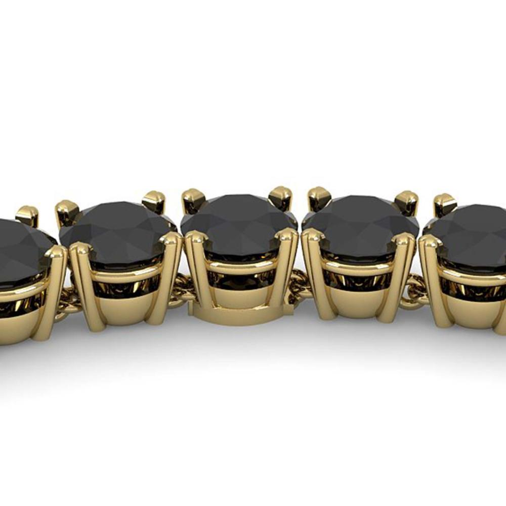 40 ctw Black VS Diamond Necklace 14K Yellow Gold - REF-1155A2V - SKU:38510