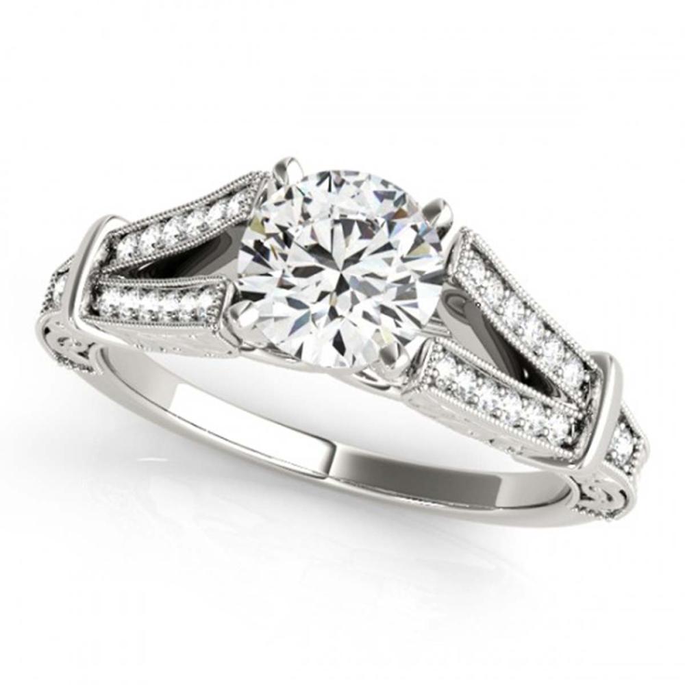 0.75 ctw VS/SI Diamond Ring 14K White Gold - REF-105M2F - SKU:25136