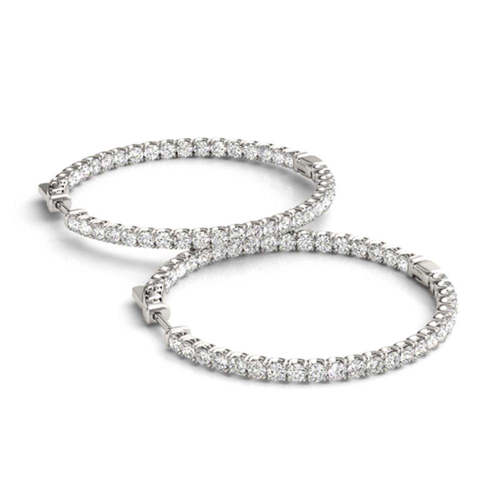 6.75 ctw Diamond VS/SI 55 mm Hoop Earrings 14K White Gold - REF-366V9Y - SKU:28978