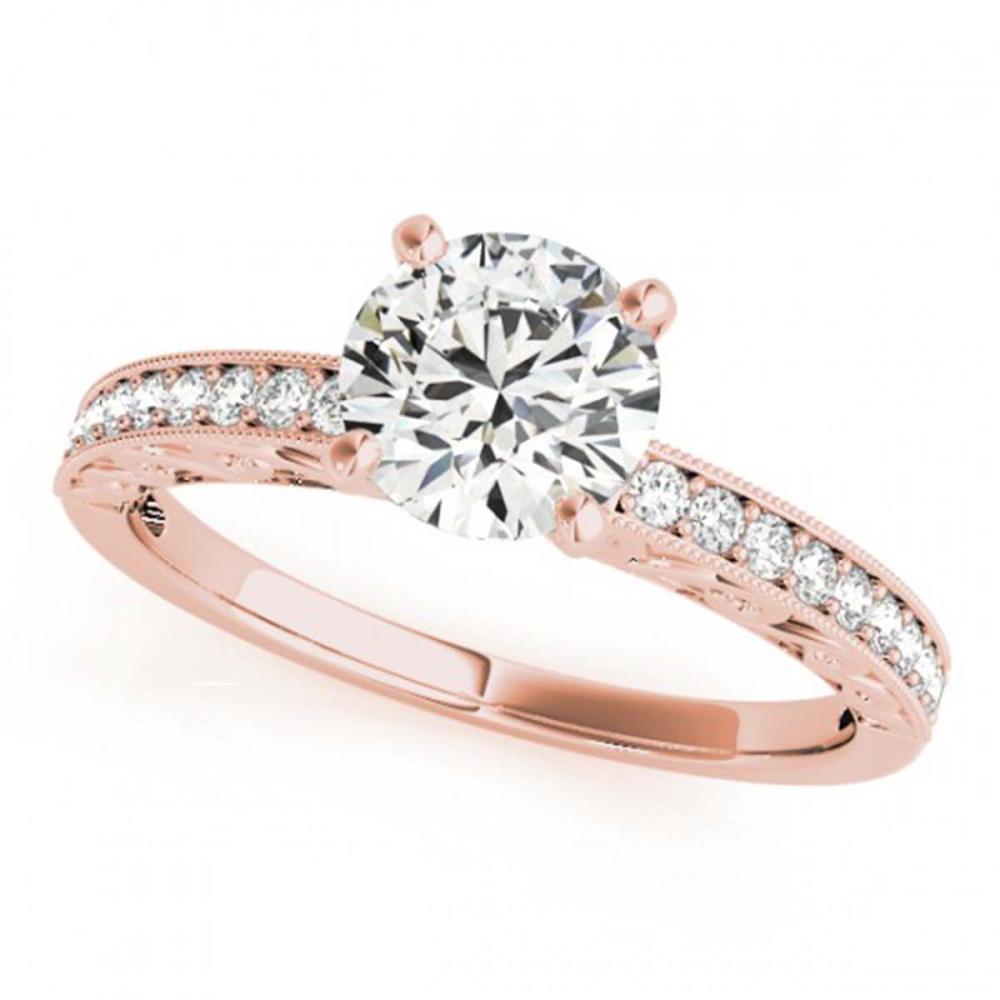1.18 ctw VS/SI Diamond Ring 14K Rose Gold - REF-259X6R - SKU:25098