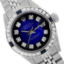 Rolex Ladies Stainless Steel, Diam Dial & Diam/Sapphire Bezel, Saph Crystal - REF-360M2H