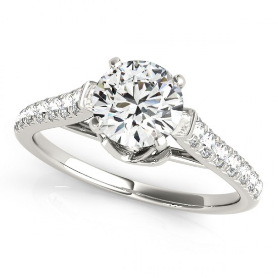 1 CTW Certified VS/SI Diamond Solitaire Ring 14K White Gold - REF-116T2M - 25415