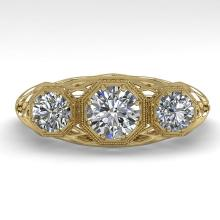 1.00 CTW Past Present Future VS/SI Diamond Ring 14K Yellow Gold - 29848-REF-140N5Y