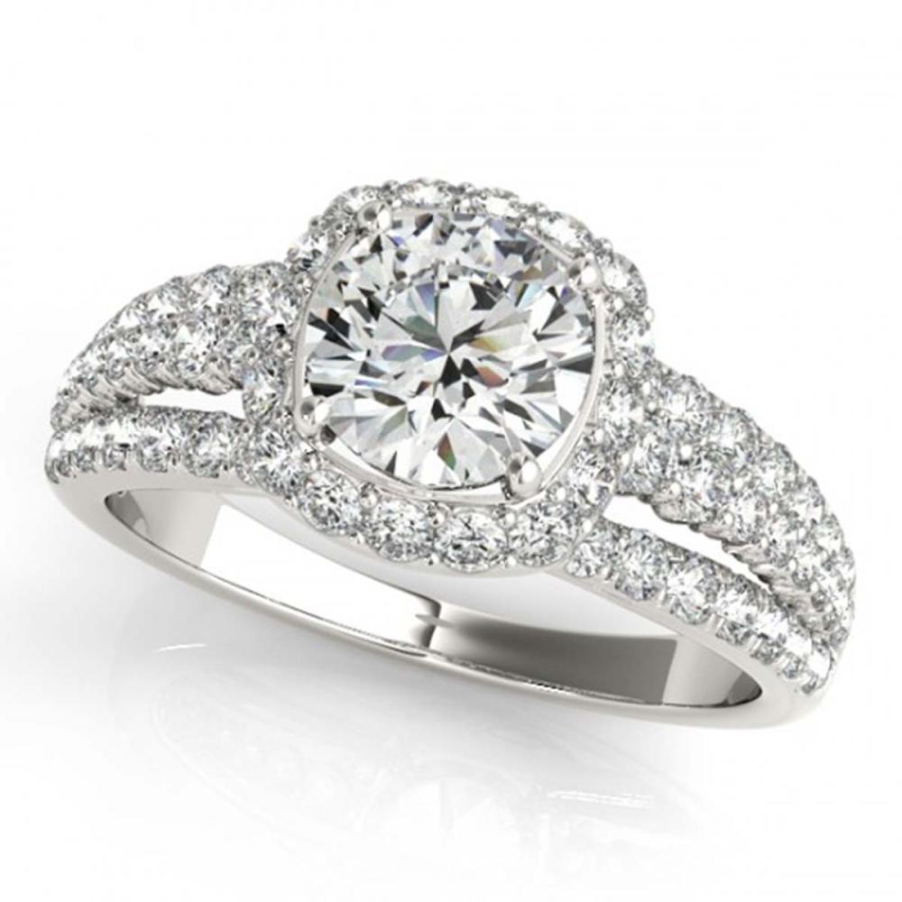 2.25 ctw VS/SI Diamond Halo Ring 14K White Gold - REF-393N8A - SKU:24599