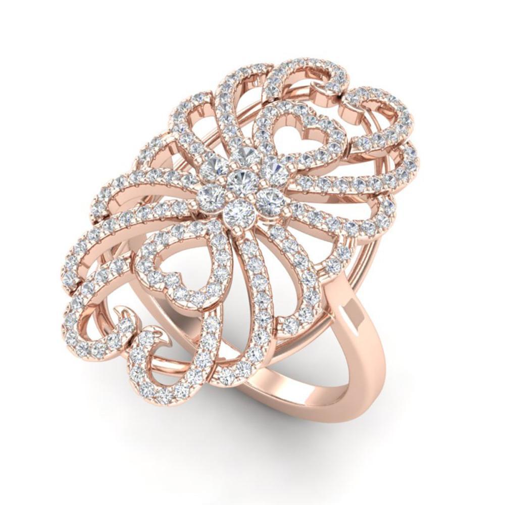 2.25 ctw VS/SI Diamond Ring 14K Rose Gold - REF-176V7Y - SKU:20886