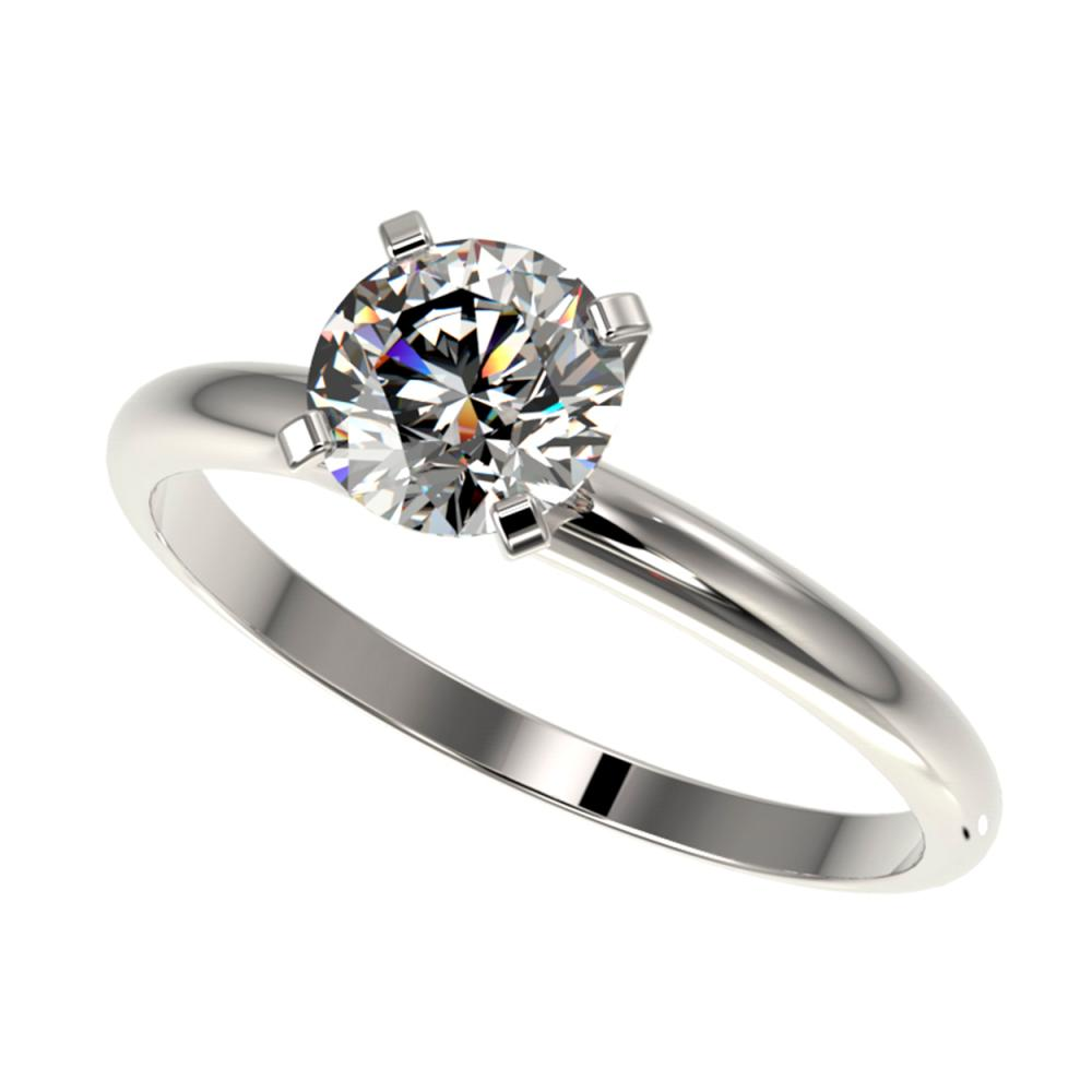 1.06 ctw H-SI/I Diamond Ring 10K White Gold - REF-202M5F - SKU:36404